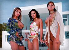Lucky, Vanessa May and Regina Ice