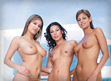 Regina Ice, Vanessa May and Lucky
