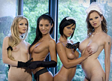 Tarra White, Cayenne Klein, Black Angelika and Lucy Belle