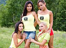 Vanessa May, Jade, Priva and Jennifer Love