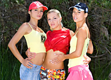 Vanessa May, Jennifer Love and Lucy Belle