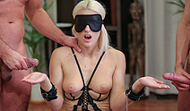 Private – Blanche Bradburry Is Handcuffed, Blindfolded and DP'd by Two Men