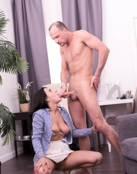 Big Tits Brunette Chanel Lux Enjoys Anal-9