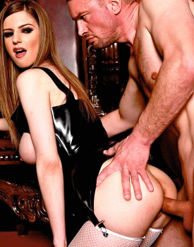 Stella Cox Deep Throats Three Big Dicks -10