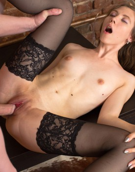 Russian Teen Stefany Gets Banged in Stockings-7