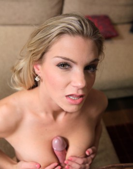 Natural Blonde Teen Ally Finishes Her Man With a Tit Wank-10