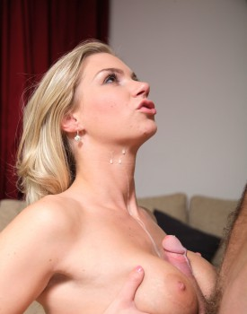 Natural Blonde Teen Ally Finishes Her Man With a Tit Wank-11