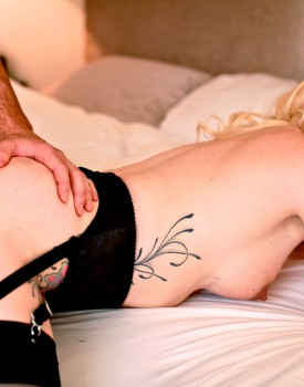 Tattooed Babe Valerie Fox Fucks in Sexy Lingerie-10