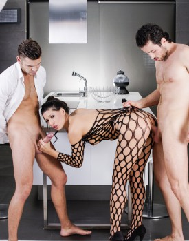 Office Boss Alexa Tomas Gets Dominated By Two Hard Cocks-6