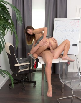 Teen Katty Blessed Gets a One to One With Her Tutor-6