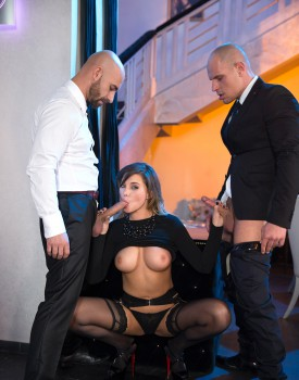 Perky Tit Anna Polina Gets Some Rough DP-1