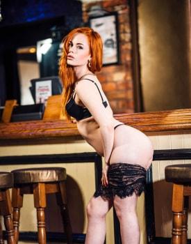 Swinger Ella Hughes Takes a Facial at the Bar-4