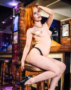 Swinger Ella Hughes Takes a Facial at the Bar-7