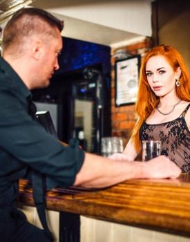 Swinger Ella Hughes Takes a Facial at the Bar-10