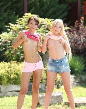 Teen Lesbians Alexis Brill and Angie Koks Don't Disappoint -2