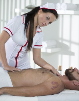 Naughty Natalee Nurses a Hard Cock-0