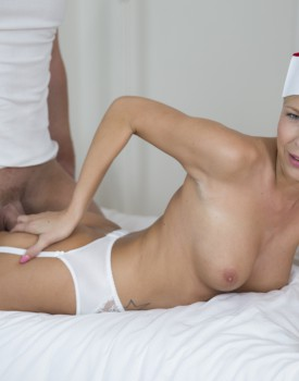 Slutty Nurse Karol Lilien Treats a Patient to Her Warm Pussy-8