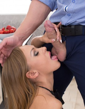 Anal Loving Teen Katarina Muti Eats Cum & Strawberries -2