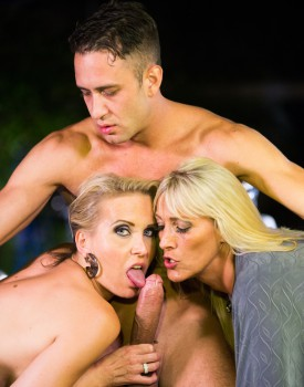 German Milfs Julia Pink & Lana Vegas Have a Hot Trio-4