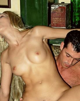 Vintage Blonde Denisa Loves to Get Double Teamed -8