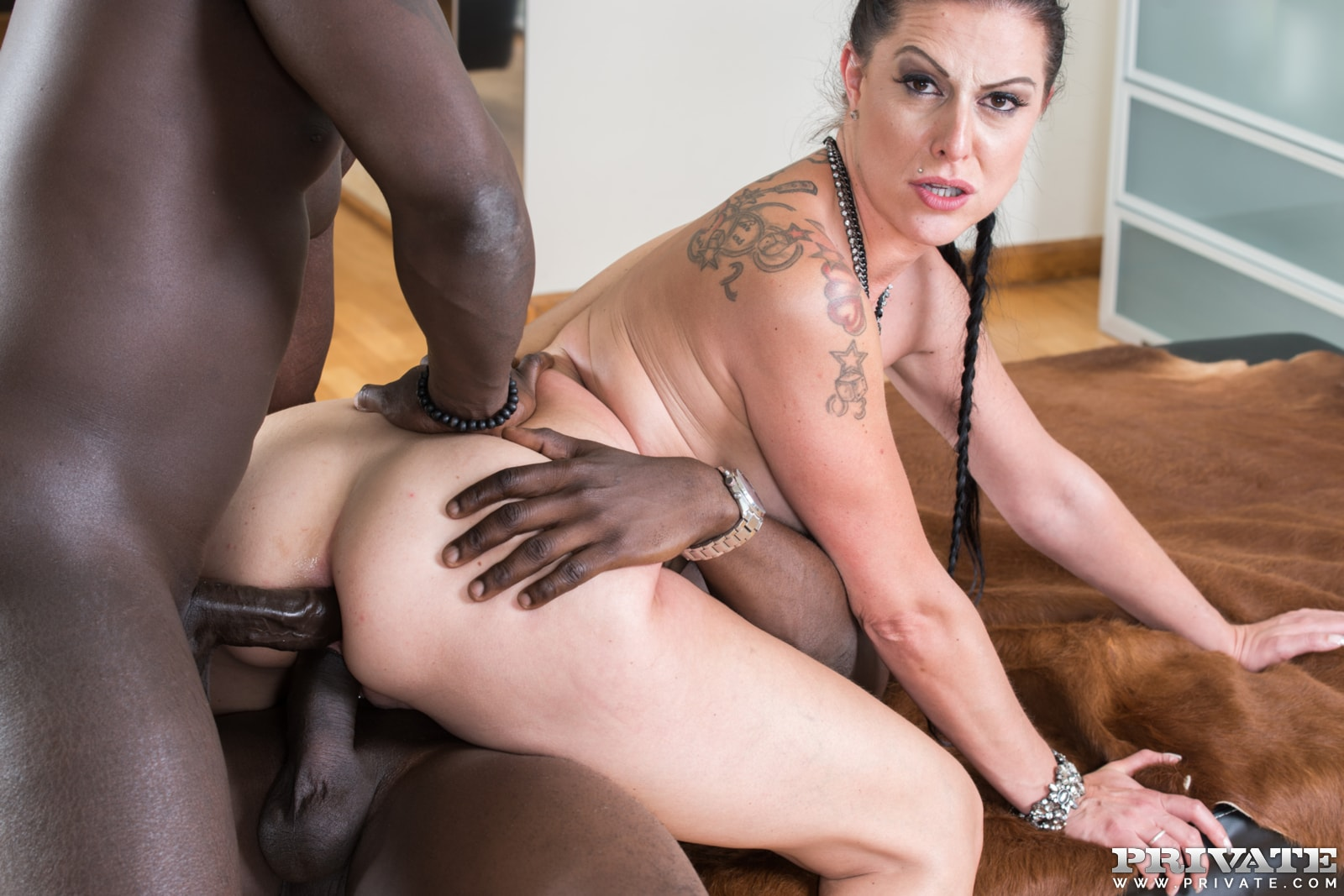 Interracial deep slamming with big titted milf alyssa lynn 7