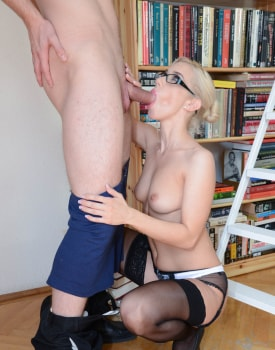 Milf Secretary Nesty Fucks While Wearing Glasses-4