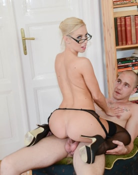 Milf Secretary Nesty Fucks While Wearing Glasses-10