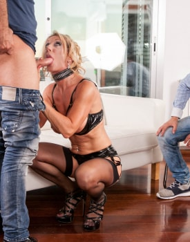 MILF Marina Beaulieu Enjoys Anal While Her Husband Watches-1