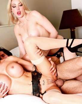 Jasmine Jae & Slutty Maid Tamara Grace Get Off in a Hot Threeway-7