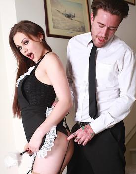Naughty Maid Tina Kay Gets a Mouthful of Cum-0