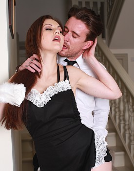 Naughty Maid Tina Kay Gets a Mouthful of Cum-1