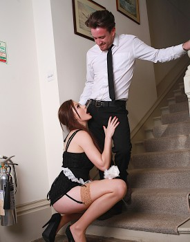 Naughty Maid Tina Kay Gets a Mouthful of Cum-2