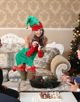Skinny Teen Gina Gerson Gets DP For Christmas-0