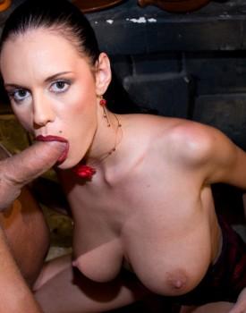 Lesbian's Christin & Tia Get a Big Cock in a Hot Threeway-4